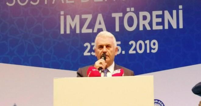 AK Parti İBB Adayı Binali Yıldırım, Bem-Bir-Sen iftarına katıldı.