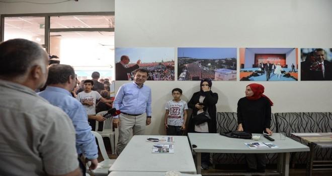 Ekrem İmamoğlu, Binali Yıldırım'ın seçim ofisini ziyaret etti
