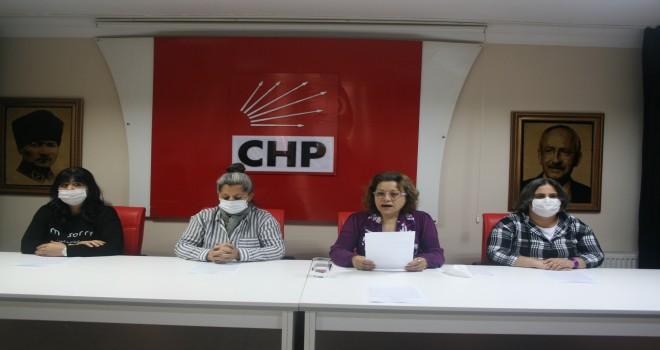 CHP ÇEKMEKÖY'DE KADINLAR 'ŞİDDETE HAYIR' DEDİ