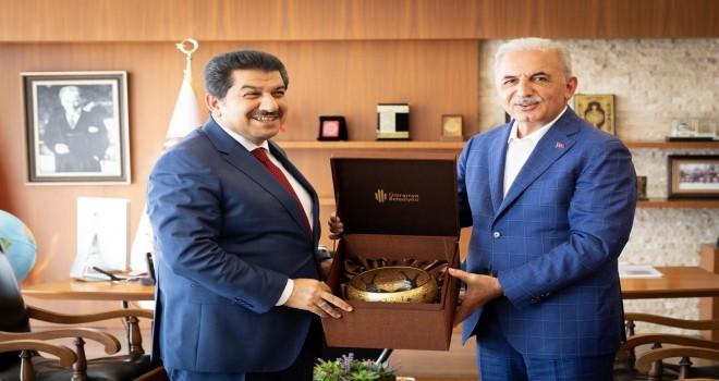 Esenler Belediye Başkanı Mehmet Tevfik Göksu'dan Başkan Yıldırım'a Ziyaret