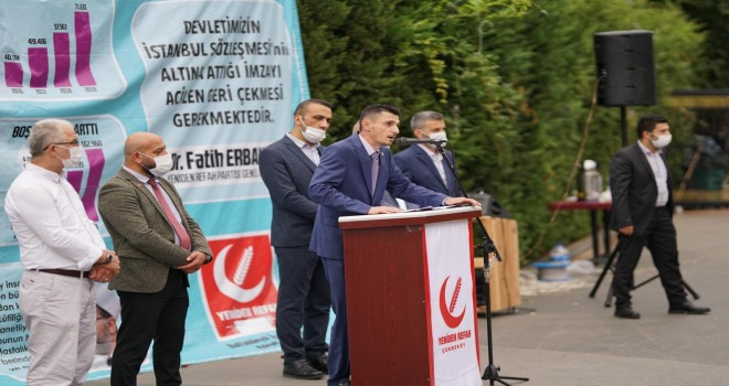 ÇEKMEKÖY YENİDEN REFAH PARTİSİNDEN İSTANBUL SÖZLEŞMESİNE TEPKİ!!