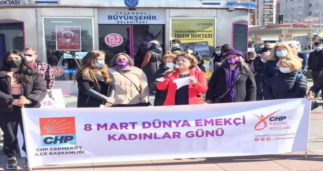 CHP ÇEKMEKÖY'DE 8 MART COŞKUSU