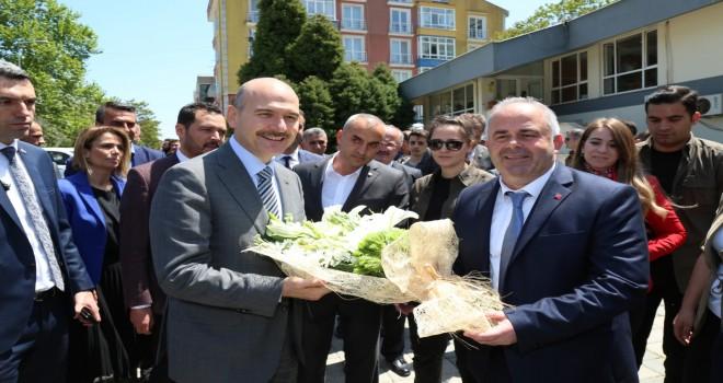 Bakan Soylu Çatalca  Belediyesini  Ziyaret Etti