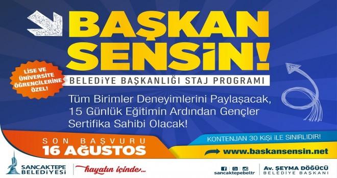 Sancaktepe Belediyesi'nden gençler için Başkan Sensin projesi