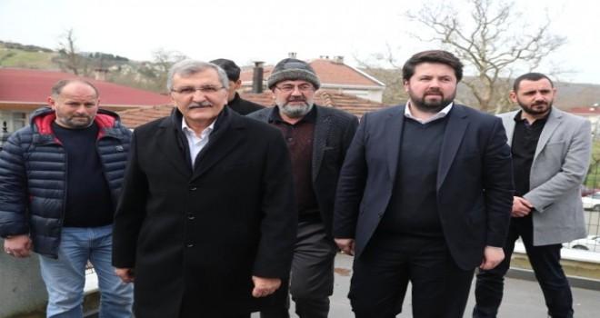 """Vatandaştan Beykoz adayı Murat Aydın'a: """"10 senedir mahallemize gelen ilk belediye başkanısınız"""""""