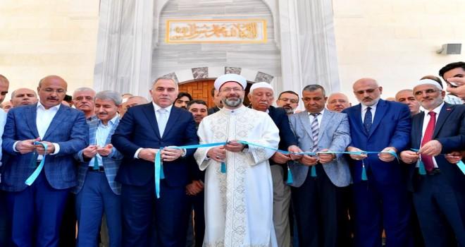 Diyanet İşleri Başkanı Erbaş, 10 Yıl Görev Yaptığı Caminin Açılışını Yaptı
